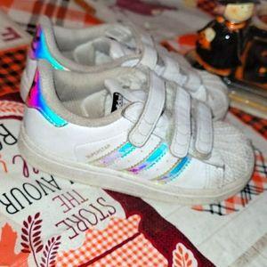 Girls adidas superstars